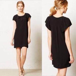 ANTHROPOLOGIE Deora Dress Black LBD {2C38}